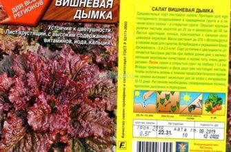Семена листового салата Вишневая Дымка